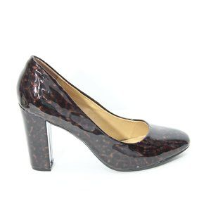 NY & Co faux Patent Leather Heels Leopard Print